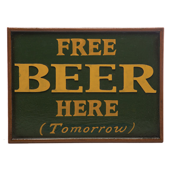 "RAM Game Room ""Free Beer"" Wall Art Sign"