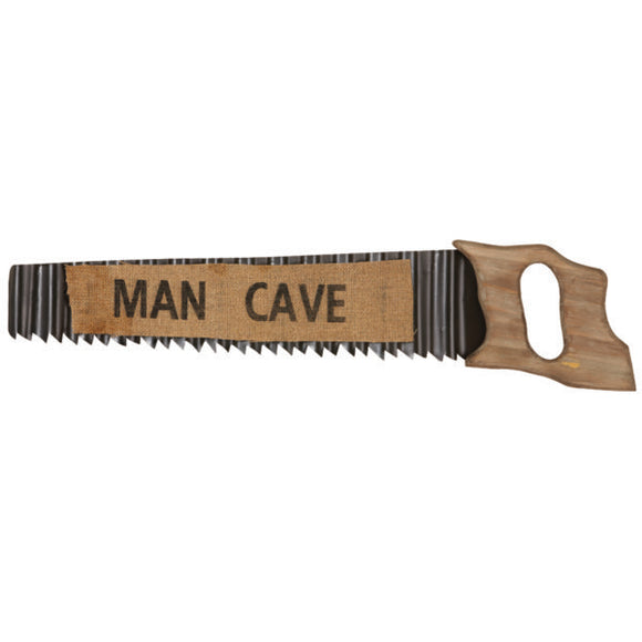 "RAM Game Room ""Man Cave"" Metal Saw Wall Art Sign"