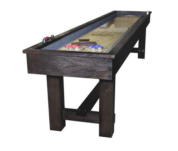 Imperial Reno Rustic 9' Shuffleboard Table in Dark Chestnut