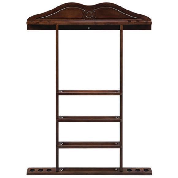 RAM Game Room Wall Cue Rack - Cappuccino