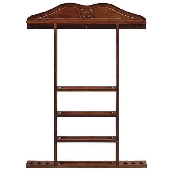 RAM Game Room Wall Cue Rack - Chestnut