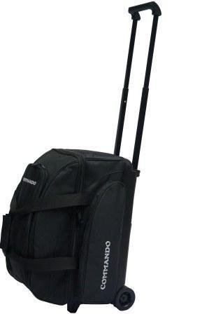 Berner Billiards The Commando 2 Ball / Double Roller Bowling Bag in Solid Black