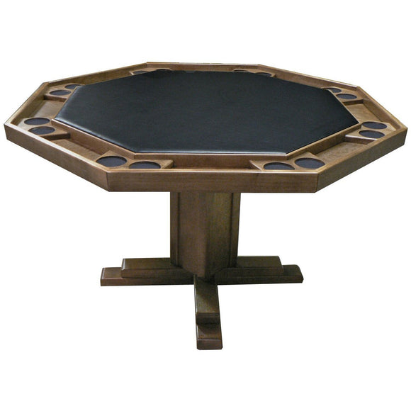 Kestell 8-Player Pedestal-Base Poker Table