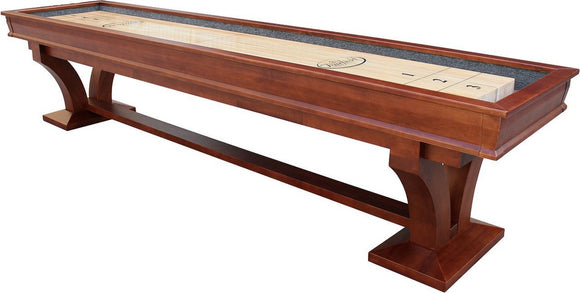 Playcraft Columbia River 12' Pro-Style Shuffleboard in Chestnut