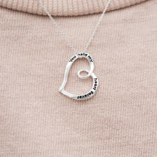 "Load image into Gallery viewer, ""You Hold My Heart Forever"" Necklace"""