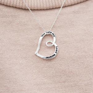 """You Hold My Heart Forever"" Necklace"""