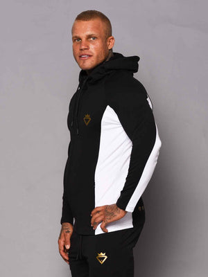 Men's  Hoodie - 2 Tone - Black and White