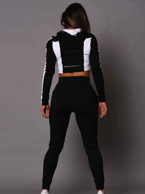 Female Beast And Beauty Trackies - Black