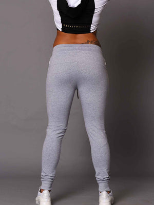 Female Beast And Beauty Trackies - Grey