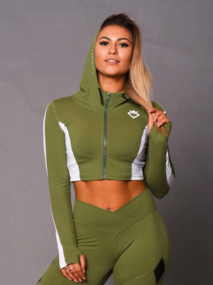 Crop Zipup Jacket - Green