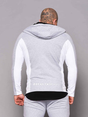 Men's  Hoodie - 2 Tone - Grey and White