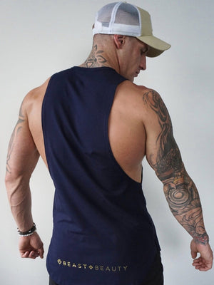 Mens Aesthetic Tank - Navy