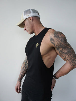 Mens Aesthetic Tank - Black