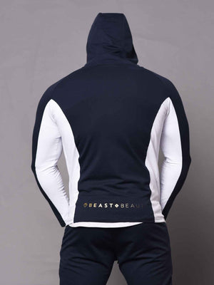 Aesthetic 2 Tone Hoodie - Blue and White