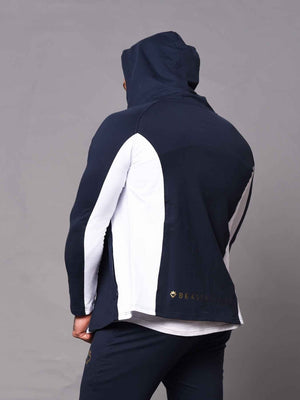 Men's  Hoodie - 2 Tone - Blue and White