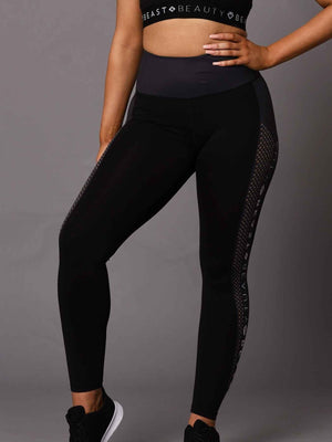 Running Logo Leggings - Black