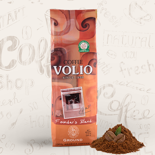 Cafe Volio Founders Blend Coffee, 500g/17.5oz