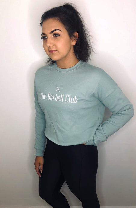 Womens cropped sweatshirt