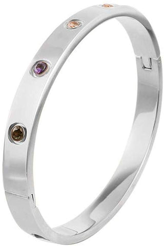 Designer Inspired Titanium Steel Love Bracelet with Swarovski Crystals