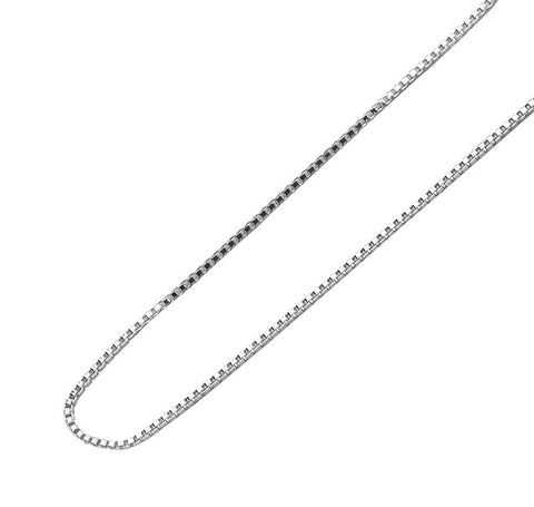 "Designer Inspired 2mm Silver Box Chain Necklace Sterling 925 16"" 18"" 20"" 22"" 24"""