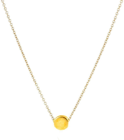 "Designer Inspired Gold Minimalist Choker Necklace Pendant 16"" Chain"