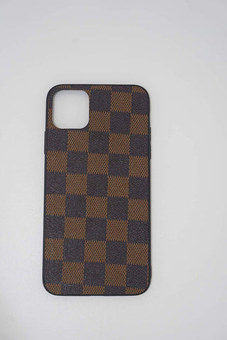 Luxury Vegan Checkered Leather Case Compatible with iPhone 11 Pro Max