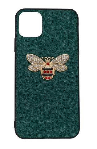 Luxury Vegan Leather Honey Bee Case Compatible with iPhone 11 Pro Max