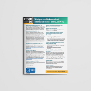 From The CDC: What You Need to Know about nCoV Fact Sheet (Team Communications)