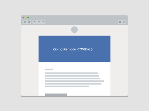Going Remote: COVID-19 Email Template (Team Communications)