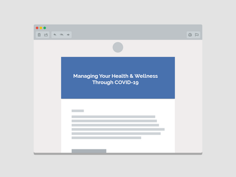 Managing Your Health & Wellness Through COVID-19 Email Template (Team Communications)