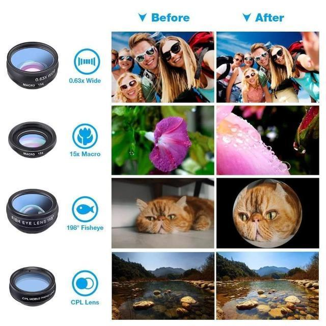 10 in 1 Phone Camera Lens Kit - Shock-Cart.co.uk