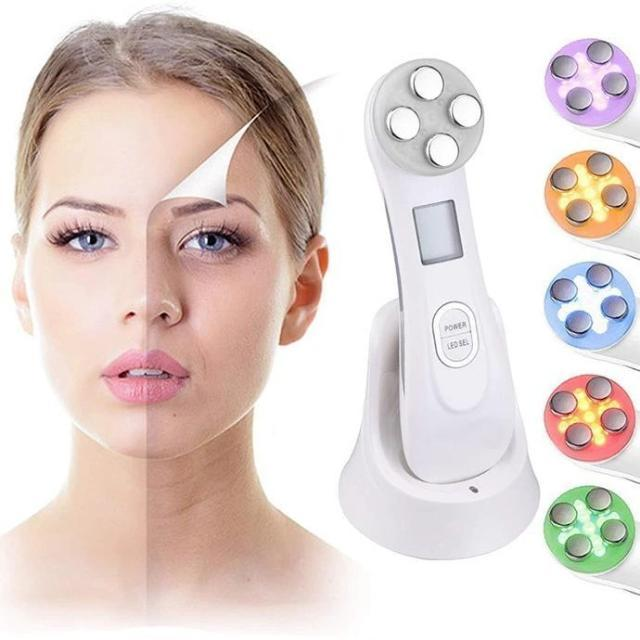 5 in 1 LED Light Facial Skin Tightening Beauty Device - Shock-Cart.co.uk