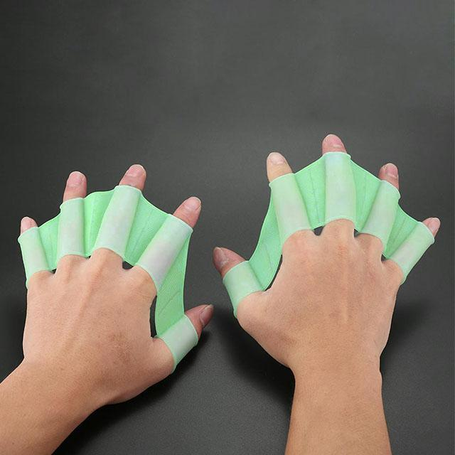 ShockCart  S / Green AQUAFAST™: New | Aquatic Webbed Hand Flippers (Pair)
