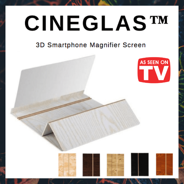 ShockCart  White CINEGLAS™: 3D Smartphone Magnifier Screen