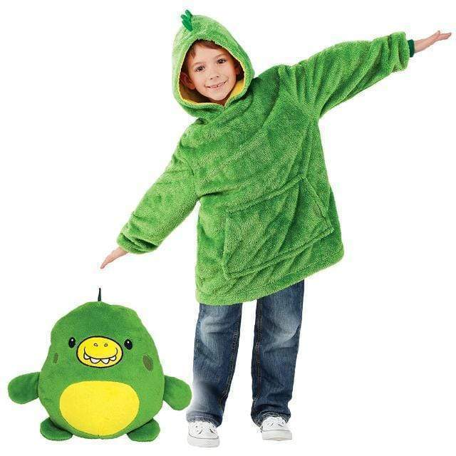 Green Dinosaur CUDDLY™: Pet Hoodie Pillow - Shopura