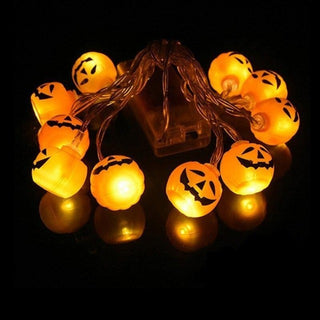 10 LED Halloween Pumpkin Bats and Spiders