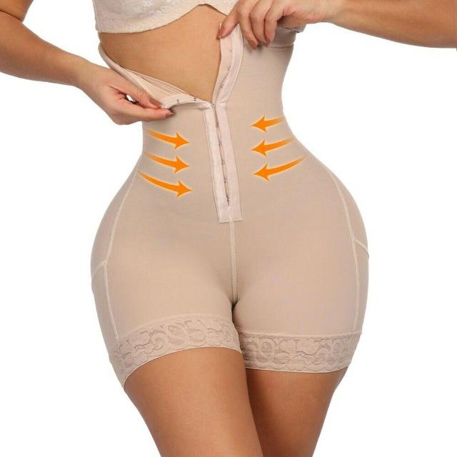 High Waist Shaper Shorts With Front Hooks