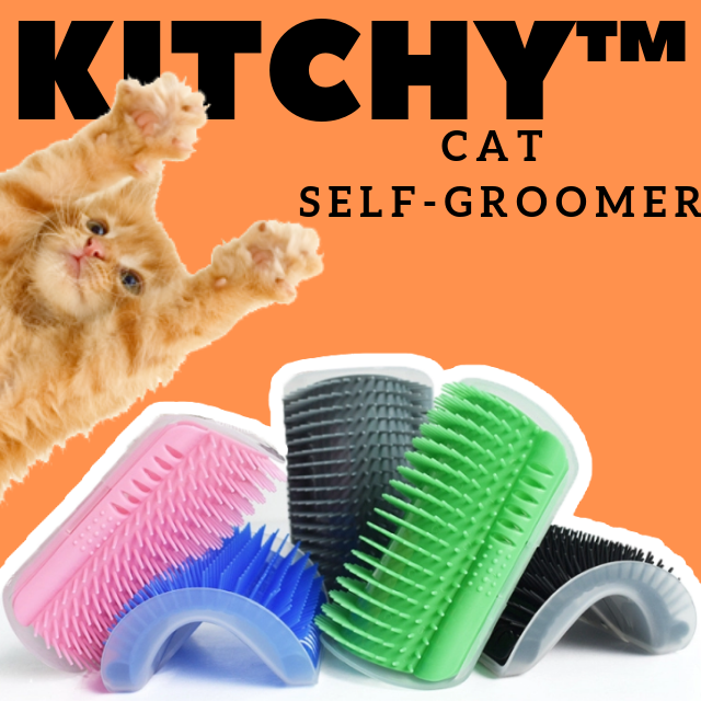 ShockCart  Black KITCHY™: Cat Self-Groomer
