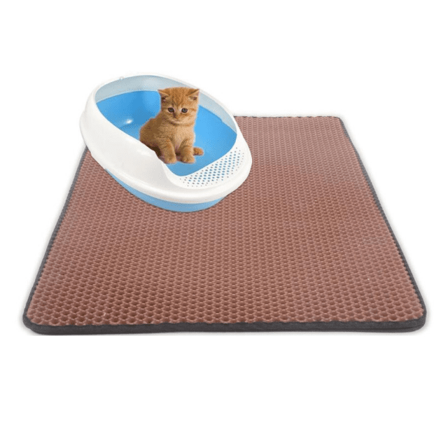 ShockCart  Brown LITCAT™: Litter Locker Cat Mat
