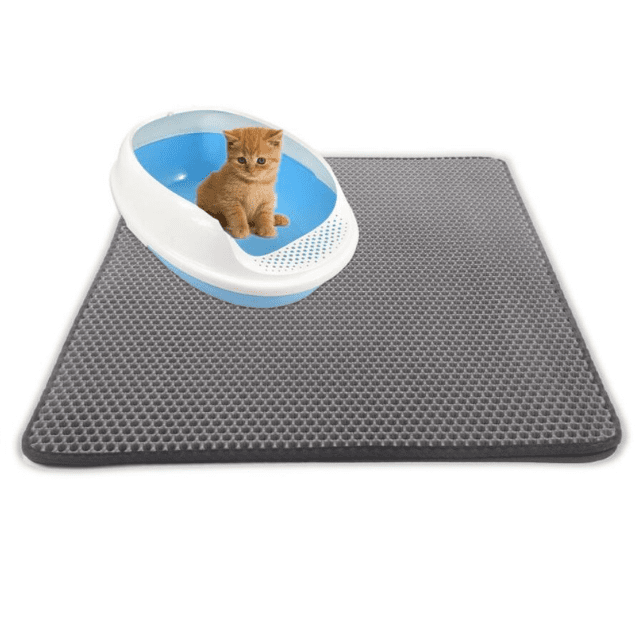 ShockCart  Gray LITCAT™: Litter Locker Cat Mat