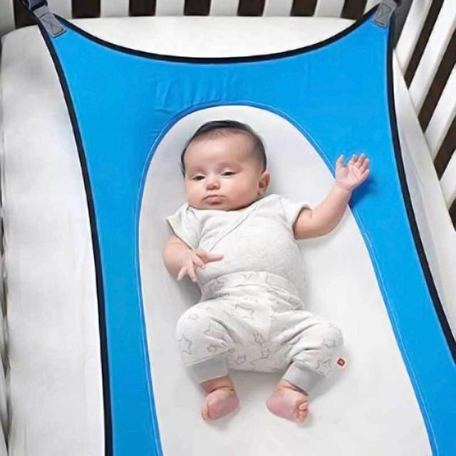 ShockCart  Navy Blue LULABED™:  BABY LULLABY HAMMOCK