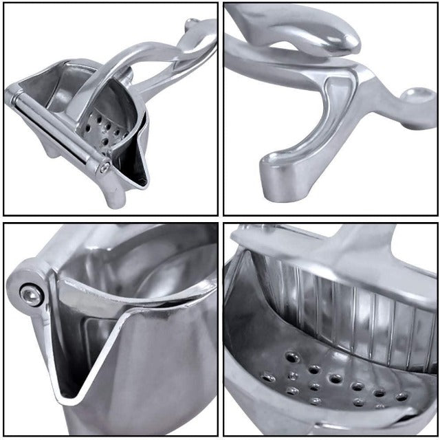 Manual citrus press in stainless steel