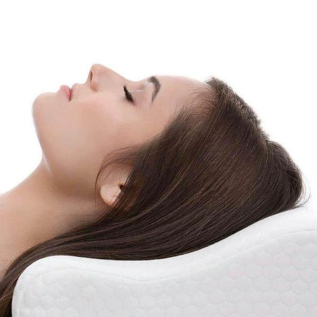 White Memory Foam Pillow Anti Neck Shoulder and Back Pain - Shock-Cart.co.uk