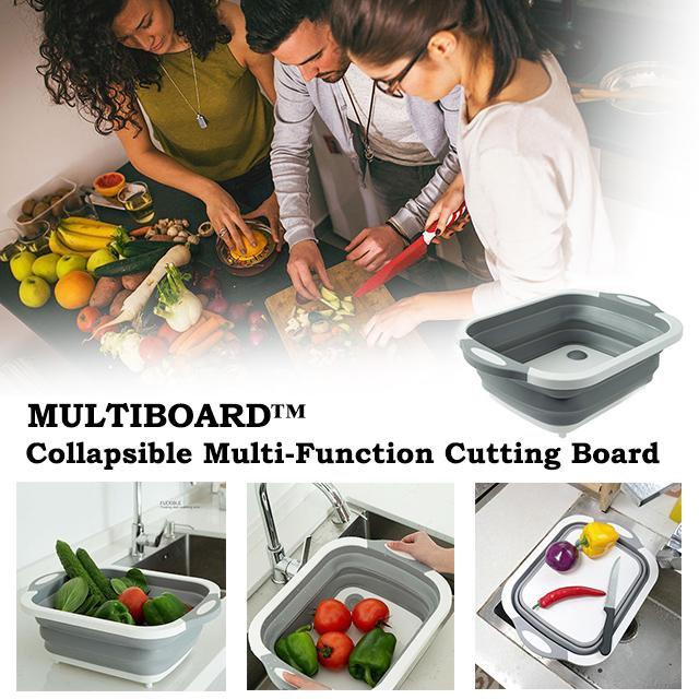 ShockCart  MULTIBOARD™: Collapsible Multi-Function Cutting Board