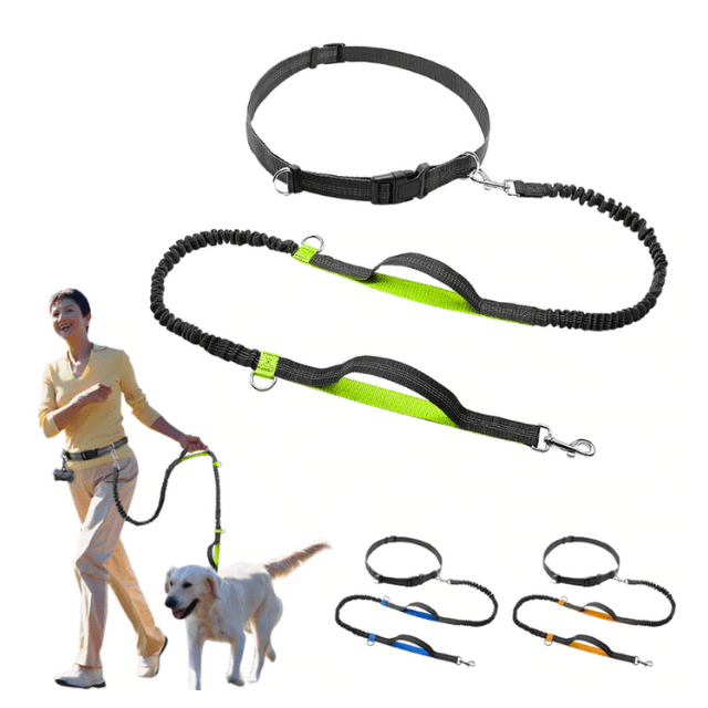 ShockCart  Green NEOMAX™: Handsfree Bungee Dog Leash