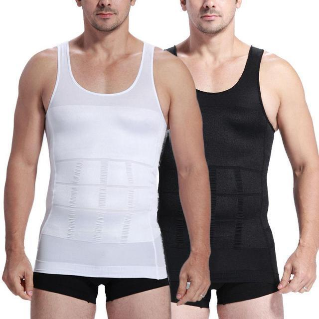 ShockCart S / White POSTUM™: Men Body Tummy Shaper