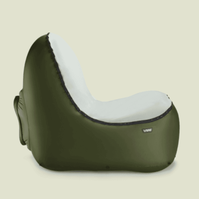 ShockCart Green POUFI™: Inflatable Chair