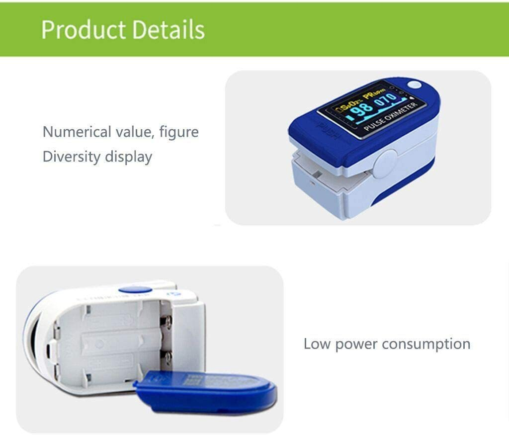 Pulse Oximeter, Blood Oxygen Saturation Monitor - Shock-Cart.co.uk