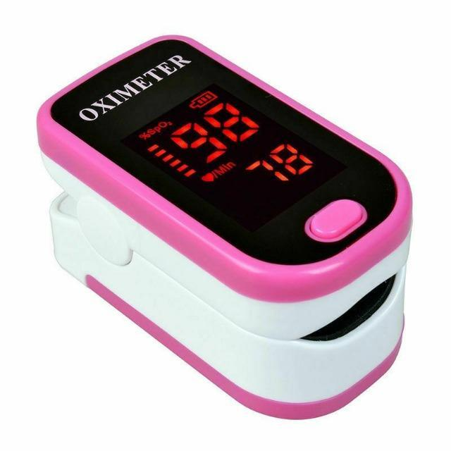 Pulse Oximeter, Fingertip Oximeter Blood Oxygen Saturation Monitor SpO2 - Shock-Cart.co.uk
