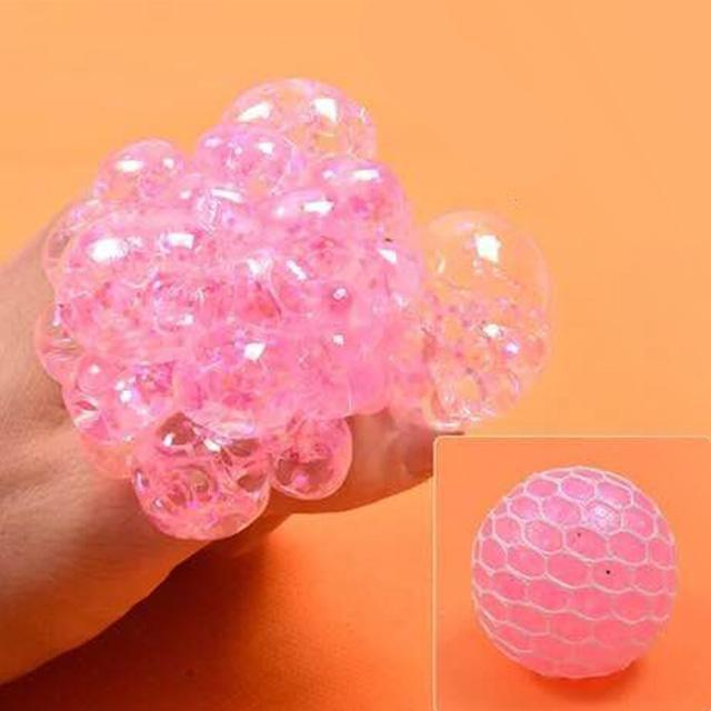 ShockCart  Pink / 45g SQWYSHY™: Stress Relief Rainbow Mesh Ball